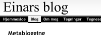 Utsnitt av et screenshot av bloggen